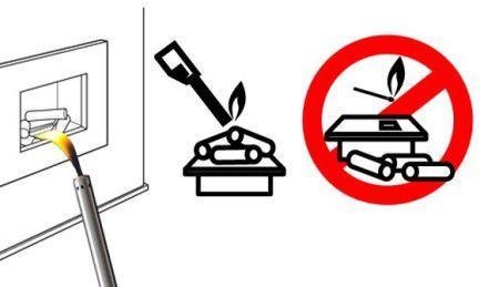 Дозаправку топлива производят только при потушенном пламени
