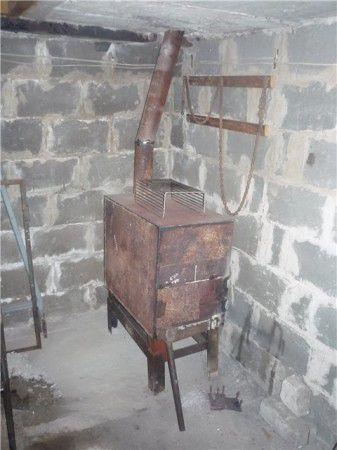 Буржуйка для гаража сделанная своими руками