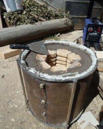 Делаем корпус и обмазываем шамотной глиной