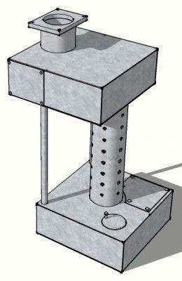 Конструкция печи на отработанном масле