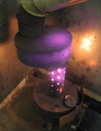 Верхний резервуар делаем из стали 6 мм.