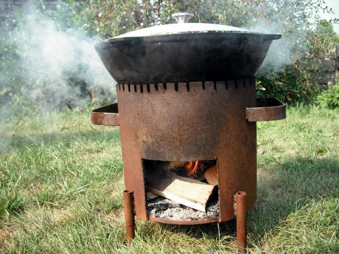 Печка для казана своими руками фото