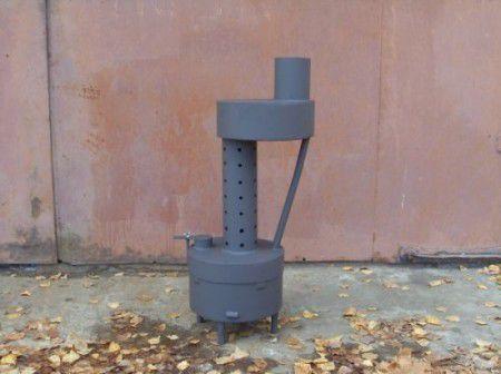 Печь для гаража на жидком топливе