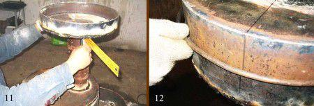 Процесс монтажа уплотнительного кольца для печи