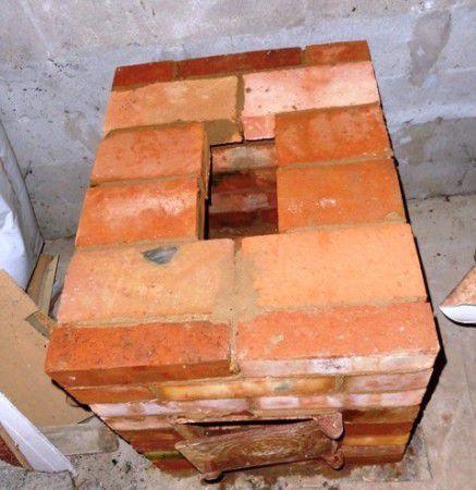 Выкладываем печь из кирпича для гаража