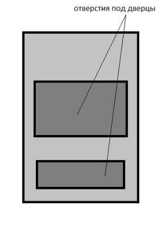 Вырезаем сваркой или болгаркой дверцы для поддувала и закладки топлива