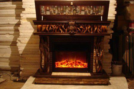 Декоративный портал для камина из дерева