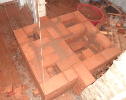Делаем перекрытие прочистной дверцы