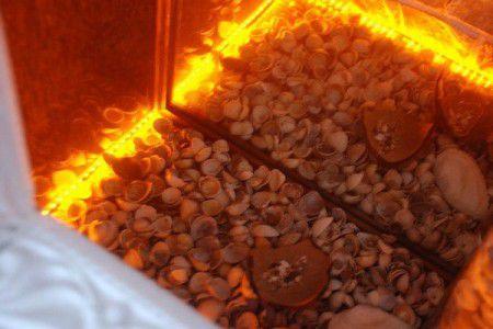 Оформление топки камина