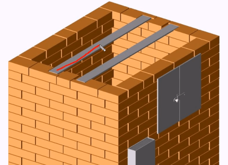 Укладываем стальные полосы