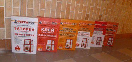 Жаропрочные смеси для оштукатуривания камина