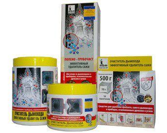Специальная химия для чистки дымохода