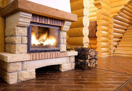 Газовые камины для дачи - фото