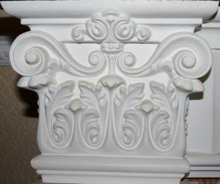 Прикладываем портал для камина из полиуретана