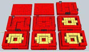 Схема кладки первых рядов печи-камина
