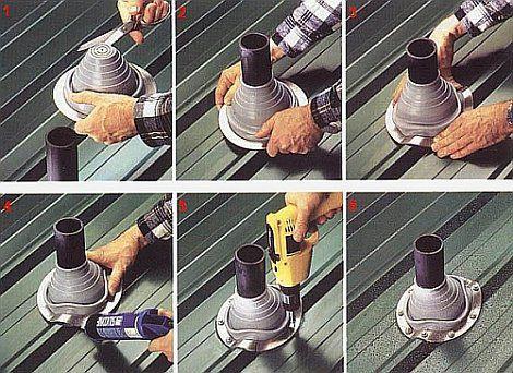 Монтаж силиконовой разделки