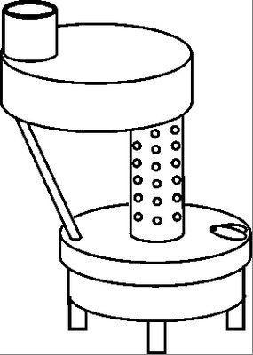 Эскиз буржуйки, работающей на масляной отработке