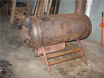 Хорошее применение для старых газовых баллонов