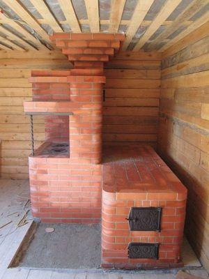 Свежевыложенная печка-грубка - уютный уголок