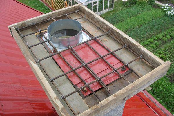 Опалубка для бетонной плиты - перекрытия трубы