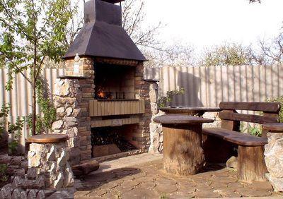Центр уютного уголка для отдыха на свежем воздухе