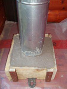 Установка трубы в кладку