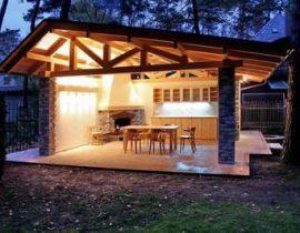 Обустройство площадки для барбекю на даче: инструкция + фото