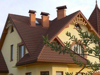 Высота дымохода относительно конька крыши