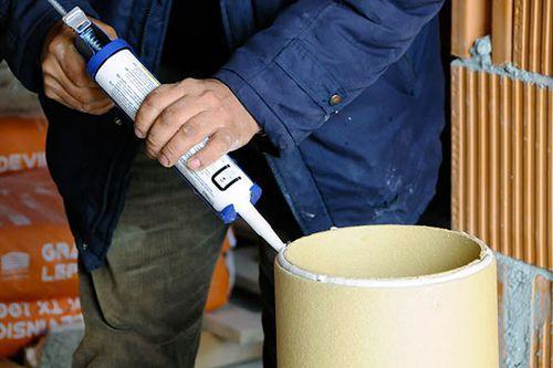 Крепление керамической трубы на жаропрочный состав