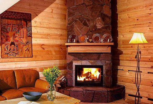 """Уютный камин для загородного дома в стиле """"Рустик"""""""