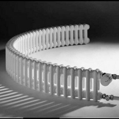 Секционные радиаторы могут иметь довольно необычную конфигурацию