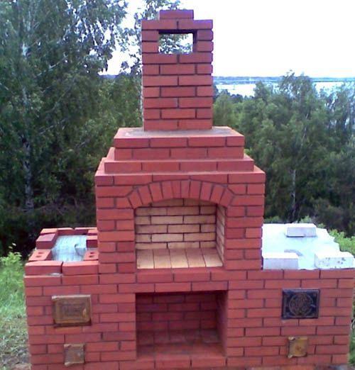 стационарная печка жаровня барбекю