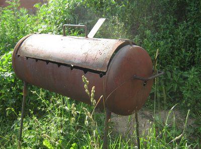 Гриль барбекю из газового баллона