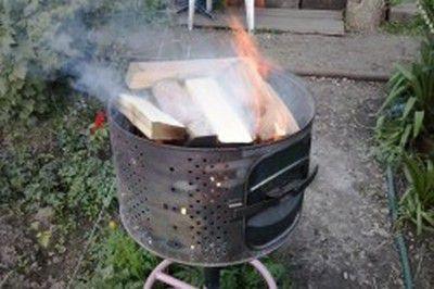 Нержавейка отлично выдерживает жар горящих дров