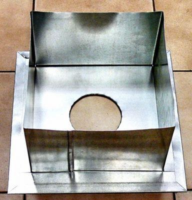 Готовый металлический патрубок (короб)