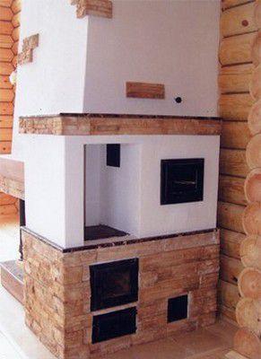 Печь и камин в одном сооружении