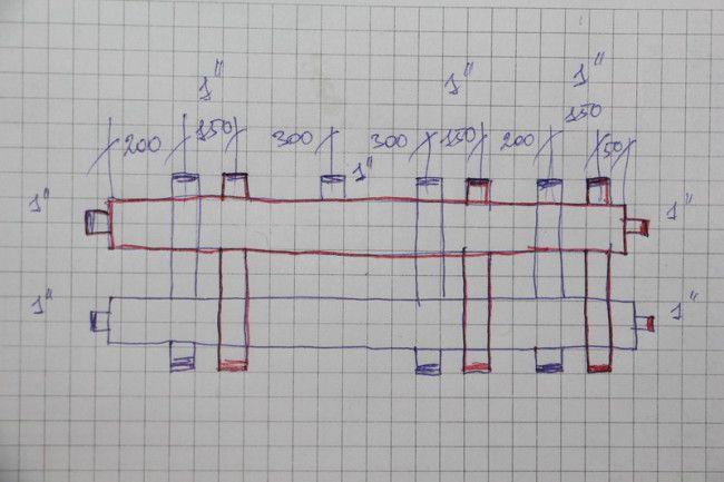 подключение контуров отопления и дополнительных нагревательных котлов