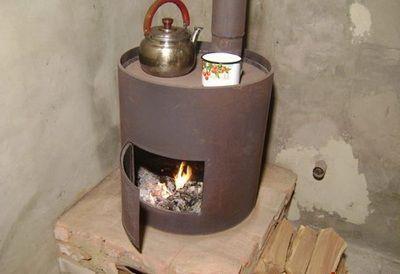 Как сделать печь буржуйку
