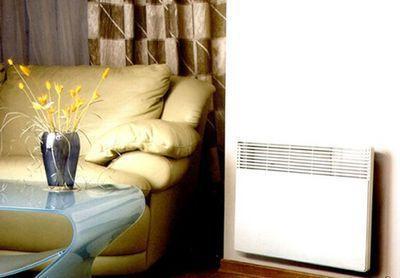 Конвектор отлично вписывается в интерьер спальной