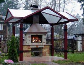 Мангал барбекю с крышей
