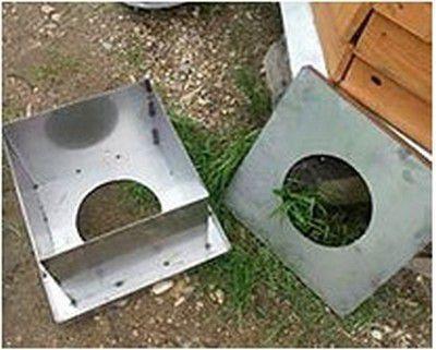 Самостоятельно изготовленный короб для прохода через перекрытие