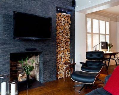 Стационарная ниша для домашнего хранения дров