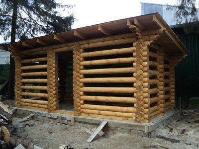 Практически идеальное хранилище для дров
