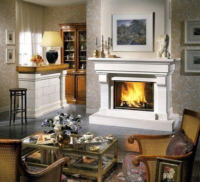 Большой дровяной камин купить угловой электрокамин с эффектом живого пламени