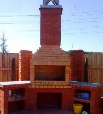 Дымоход у садовых каминов делают только вертикальным
