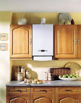 Компактный настенный котел может вписаться даже на кухне