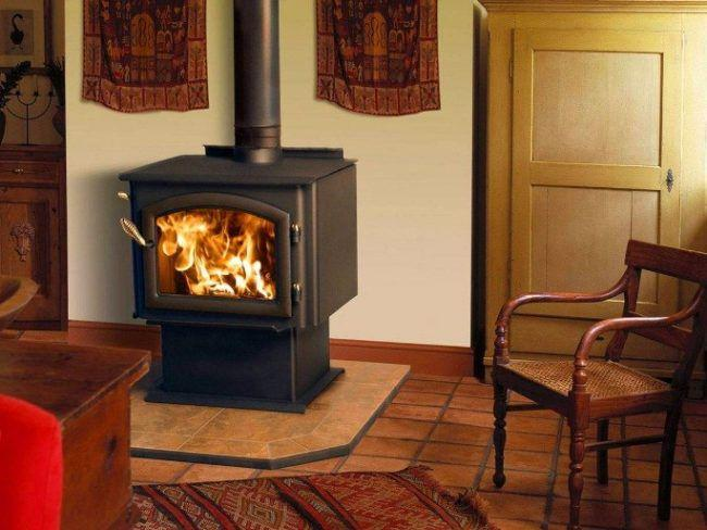 Домовые печи отопления на дровах длительного горения