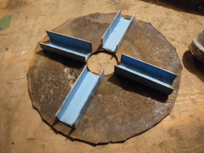 Швеллеры, приваренные к кругу