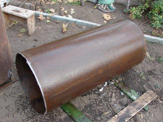 Обрезок старой трубы – хороший корпус для самодельной печки