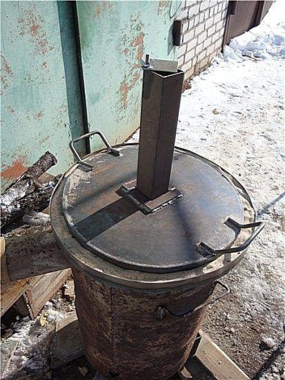 Печь, закрытая крышкой
